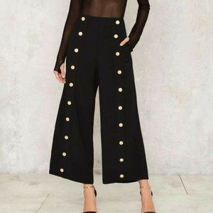 NWT Asilio Another Icon Black Culottes Pants 6